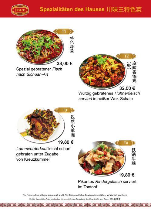 Good Speisekarte Sichuan K che Restaurant M nchen