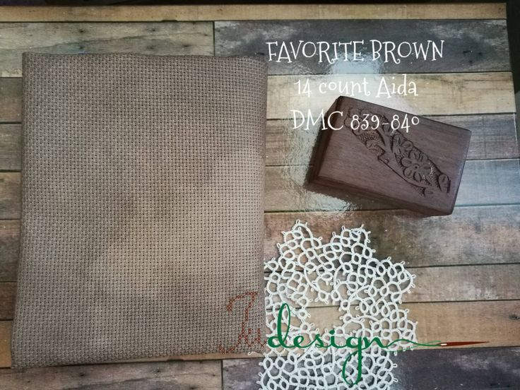 14 count FAVORITE BROWN hand dyed Aida for cross stitch, hardanger, blackwork, embroidery works 19x24 inch by xJudesign on Etsy