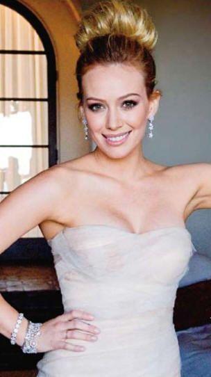 Hilary Duff Wedding Hairstyle