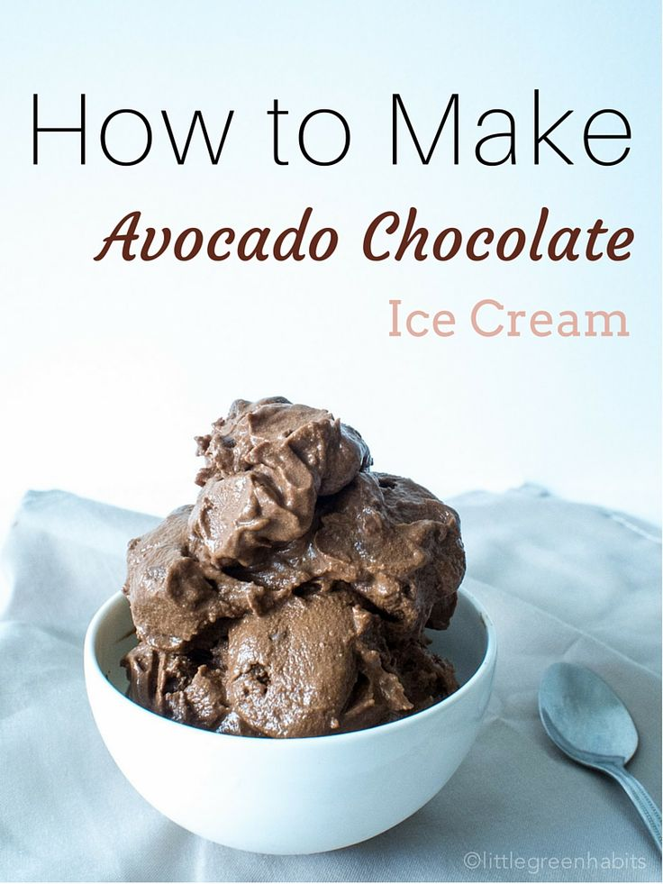 Avocado Chocolate Ice Cream|