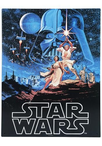 "Targa di metallo ""A New Hope"" di #StarWars."