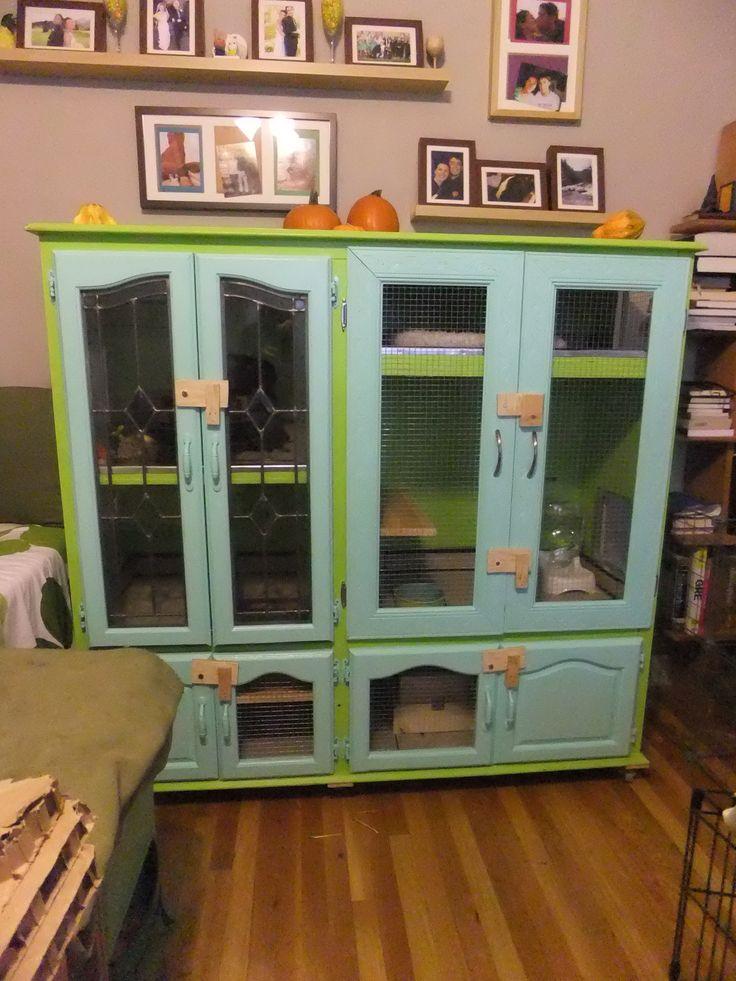 Indoor Diy Bunny Rabbit Hutch Made From Furniture Bunny