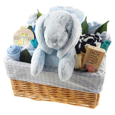 61 best baby boy gift ideas images on pinterest baby presents deluxe baby boy gift flower basket negle Choice Image