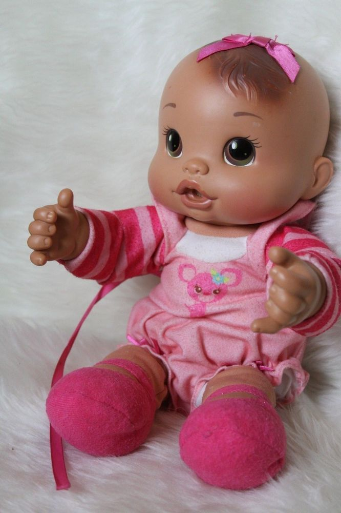 Baby Alive Hasbro Rare Brunette Feedin Time Newborn Baby Alive 12 Pink Outfit Hasbro Babyalivenewborn Baby Alive Baby Alive Dolls Pink Outfit