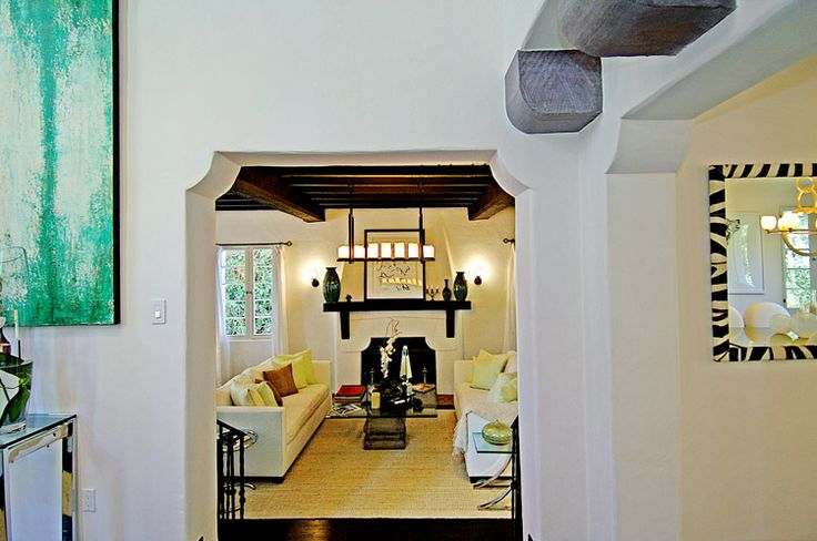 Charlie Sheen's Place 2014 - foyer-to-living-room