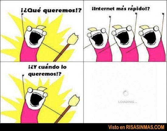 Internet más rápido #humor #chistes