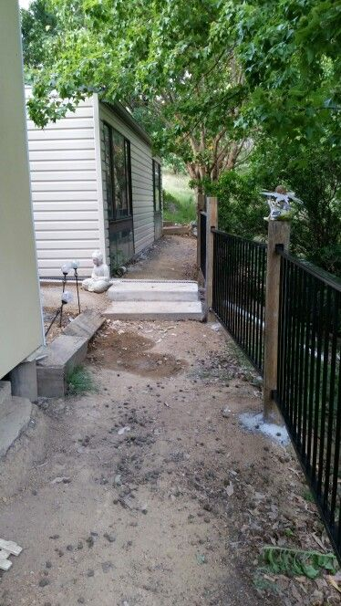 Fence & pathway started
