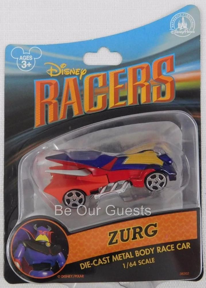 Disney Parks Racers Die-Cast Metal Body Race Car New Toy Story Zurg