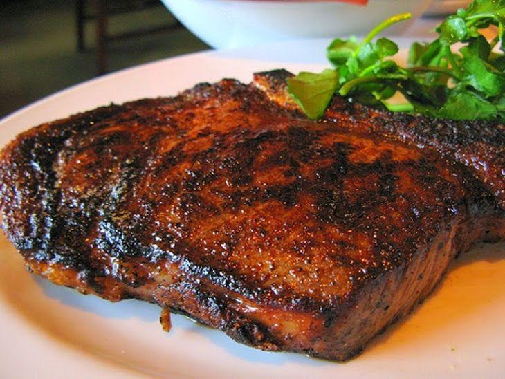 Cowboy Steak #PhilippineRestaurantMenu Recipe Main Dishes with porterhouse steaks, garlic, chili powder, vegetable oil, kosher salt, chili powder, black pepper