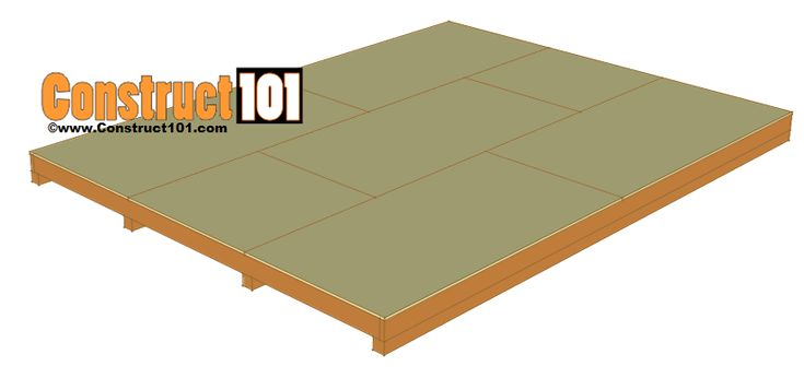 12x16 shed plans - floor deck