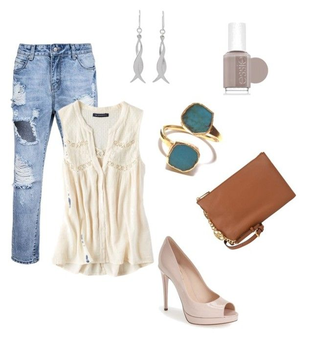 Fall 2015 #1 by antiadamo on Polyvore featuring American Eagle Outfitters, Fendi, NOVICA and Essie