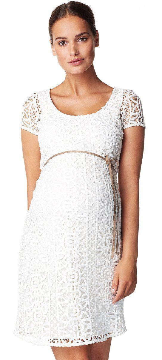 Vestido Premamá con encaje Elise Blanco [60239] - 119,99€ : Ropa premama…