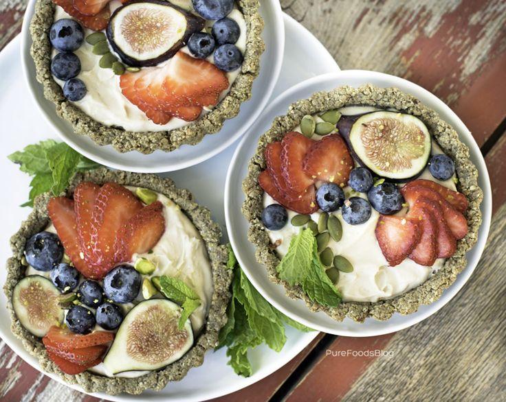 Vegan summertime berry cream tarts's image