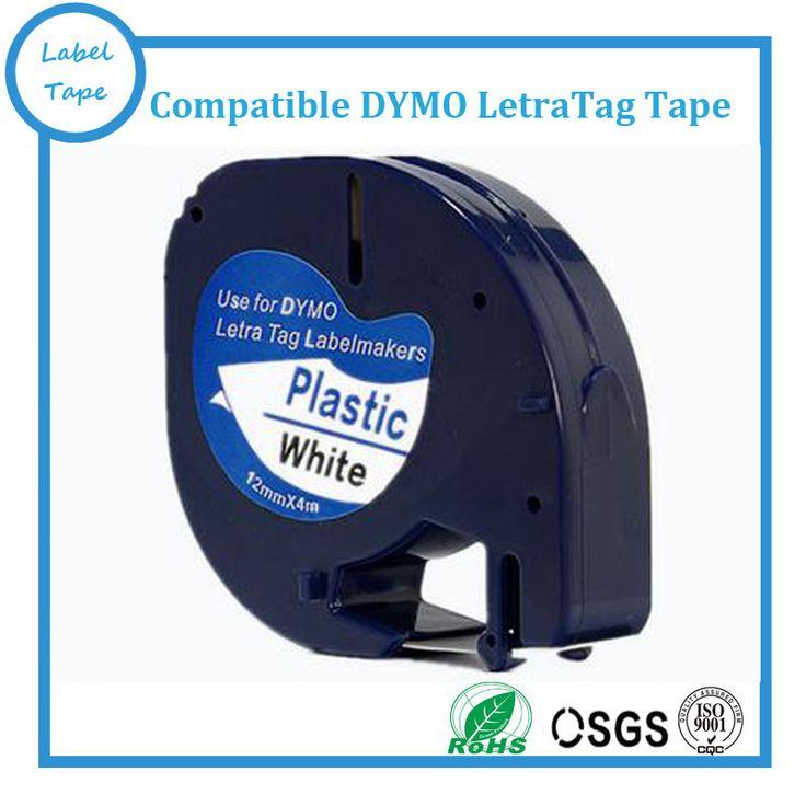 Free shipping 91201 Dymo Letratag Printer Tape 5pcs/lot  Dymo Printer Black on White Printer Ribbon label tape