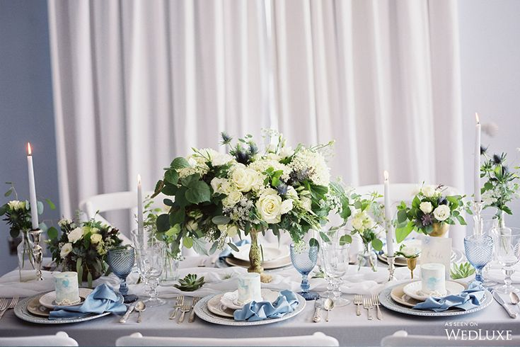 WedLuxe – A Sea of Love: Cool, Blue Wedding Inspiration | Photography By: Julia Park Photography and Cinema. Follow @WedLuxe for more wedding inspiration!