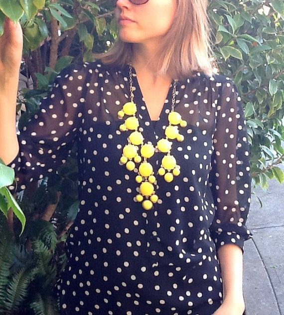 Yellow Bubbly Necklace by WafflesandHoney on Etsy, $35.00