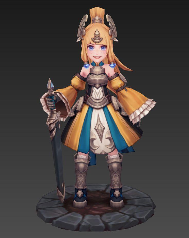 3D role girl, LIU HAO on ArtStation at https://www.artstation.com/artwork/gq2w8