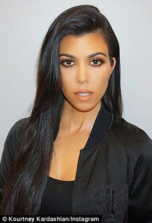 Posing:'I love these throwback photos from the first season of our Kardashian Kollection ...