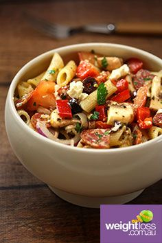Pizza Salad. #HealthyRecipes #DietRecipes #WeightLossRecipes weightloss.com.au
