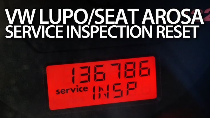 VW #Lupo, Seat #Arosa #reset #service reminder (OIL INSP #maintenance message)