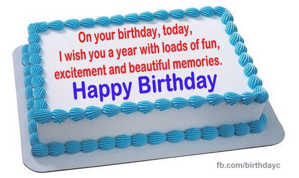 A beautiful birthday message on the cake - Birthday.kim - Birthday Wishes Cards