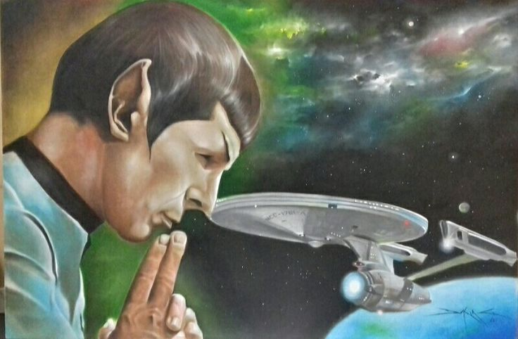 Mr. Spock and Enterprise Artist: Daking Y