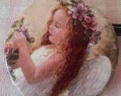 """broche / collier porcelaine """"ailes d'ange"""" : Broche par dentelles-et-fanfreluche"""
