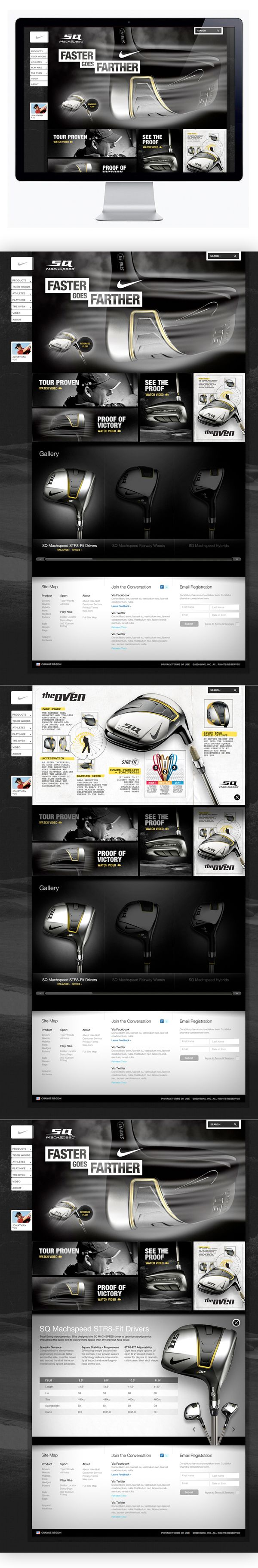 Nike Golf - Machspeed by Moosesyrup , via Behance - like the footer
