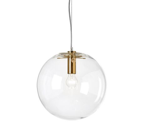 ClassiCon Sandra Lidner Selene Brass Gold Pendant Light Replica is best possible quality finish in suspended five armed glass ball with round mesh perfect spherical