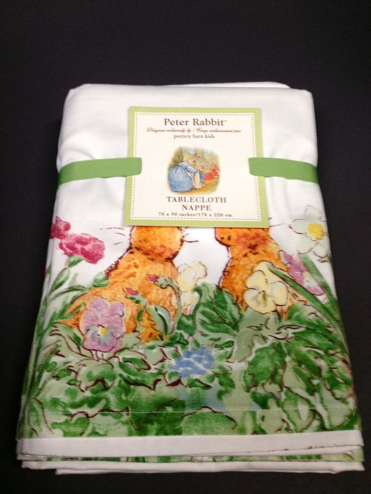 Pottery Barn Kids Easter Peter Rabbit Tablecloth Beatrix