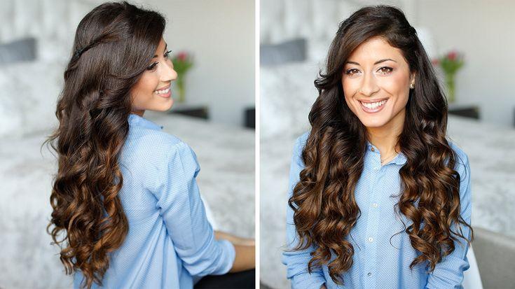 acconciature capelli lunghi: un'idea con dei boccoli