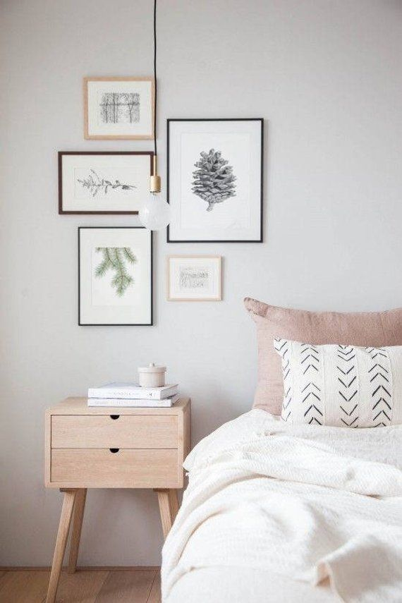 Kiefernkegel drucken | Schwarzweißdruck | Pinecone Wandkunst | Wanddekor im nordischen Stil Botanische Schwarzweiss-Kunst | Kieferkegel Poster