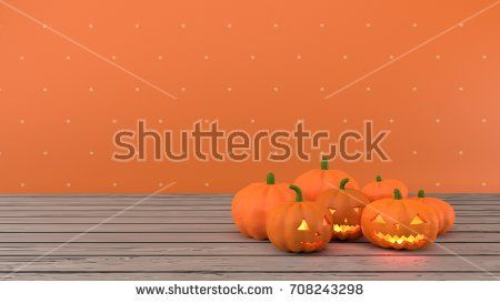 Jack O' Lanterns - Orange dotted background