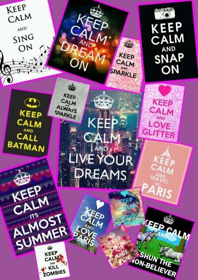 Keep calm and be original :)