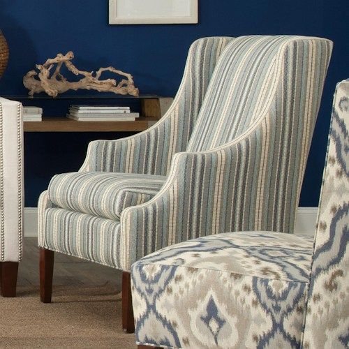 Hickorycraft Accent Chairs Transitional Chair with Scalloped Arms