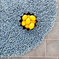 Hand-woven Bliss Light Blue Shag Rug (6' Round) | Overstock.com Shopping - The Best Deals on Round/Oval/Square