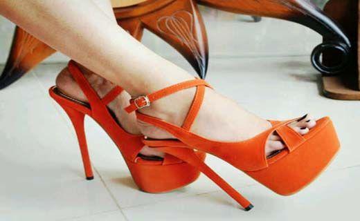 Kode : AWF-363, Nama : Fashion Orange Classic Heels, Price : IDR 175