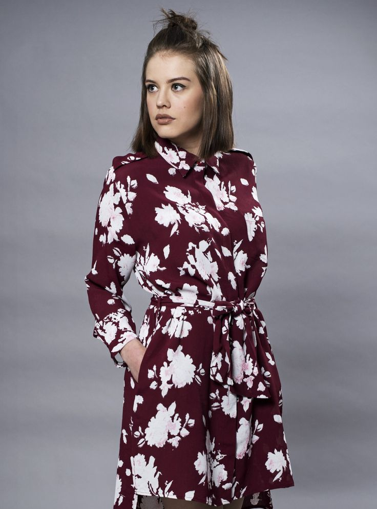MISSMAYA Sia Dress Burgundy Flower