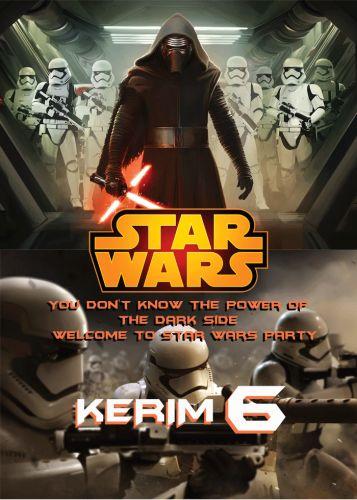 Kylo Ren & Startroopers Kişiselleştirilebilir Poster