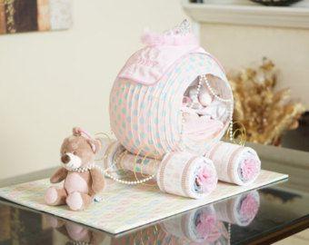 Choo Choo Train Diaper Cake Baby Shower by GiftyCreations4You