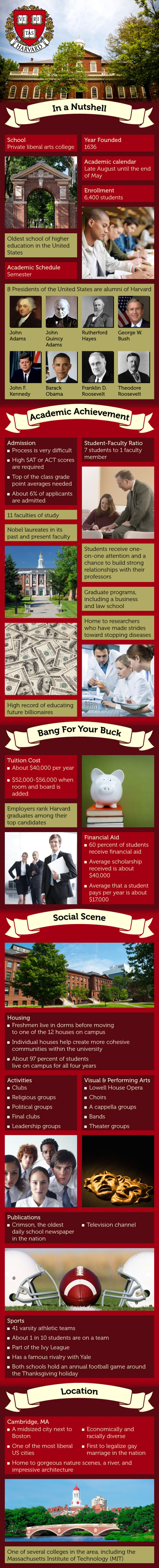 Harvard University Infographic