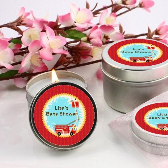 Fire Truck - Baby Shower Candle Favors
