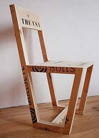 Pallet chair, made by hand in the Netherlands, 100%  recycled