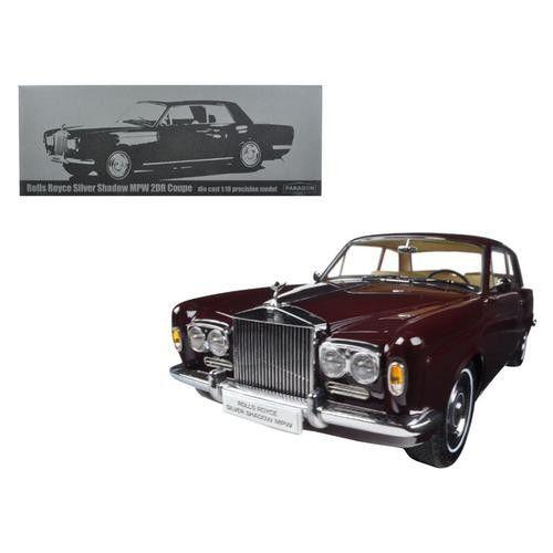 1968 Rolls Royce Silver Shadow Burgundy 1/18 Diecast Model Car by Paragon