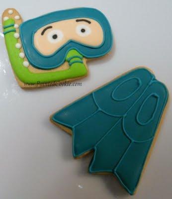 Snorkel and Swim fin cookies