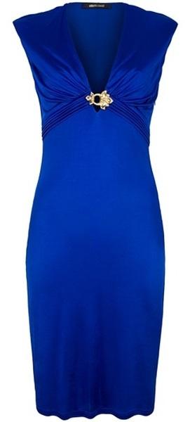 roberto cavalli cocktail dress dazzlingblue blue fashion