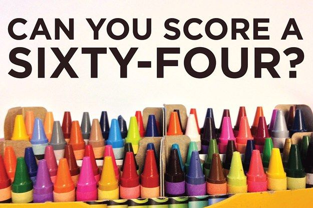 The Great Crayola 64 Quiz Of Impossibility: I didn't do as well as I thought I would and gave up at number 20.