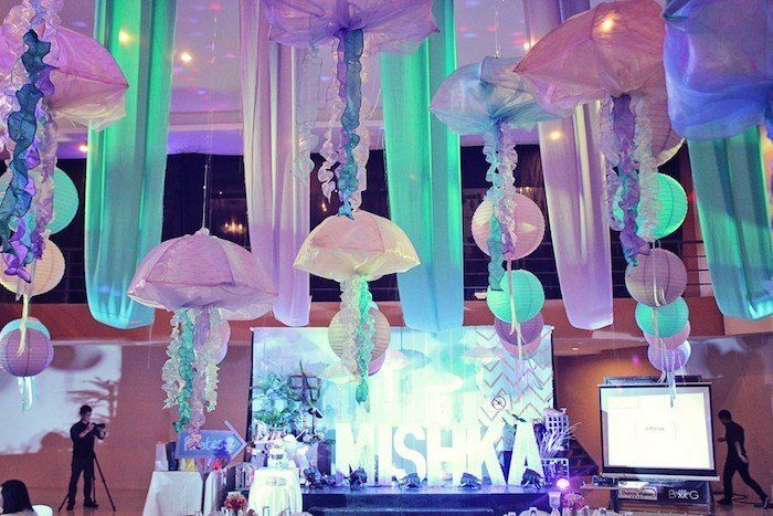 Mermaids vs. Pirates Themed Birthday Party with So Many Really Cute Ideas via Kara's Party Ideas KarasPartyIdeas.com #mermaidparty #piratepa...