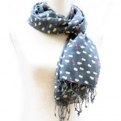 Slate Blue Sheep Print Scarf for Women #Jewellery #Accessories #scarf