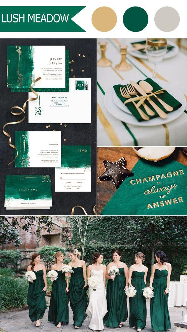 emerald green lush meadow 2016 fall wedding colors by pantone